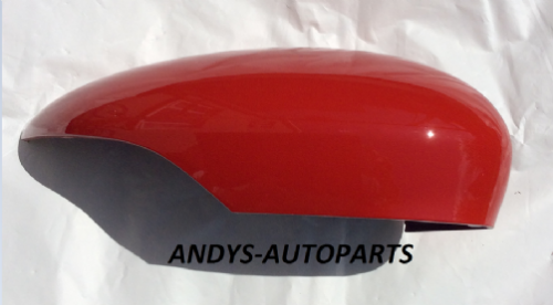 FORD FIESTA  2008 - 2017 GENUINE WING MIRROR COVER LH OR RH SIDE IN FORD COLORADO RED